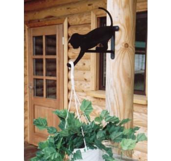 Harmony kovový držák na květináče (kočka)