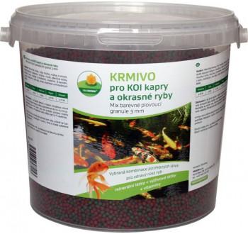 Mix barevné plovoucí granule 3 mm 2 l