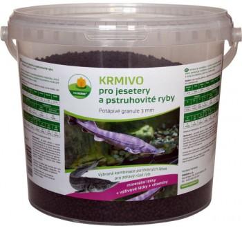 Potápivé krmivo pro jesetery a pstruhovité ryby 5 l
