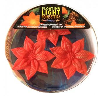 Světlo plovoucí Květina Poinsettians 3Ks