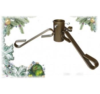 Stojan na vánoční stromek kovový H5 zlatý (510x330x150)