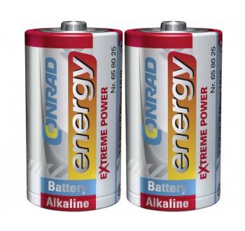 Alkalická baterie Conrad Energy Extreme Power, typ D, 2 ks
