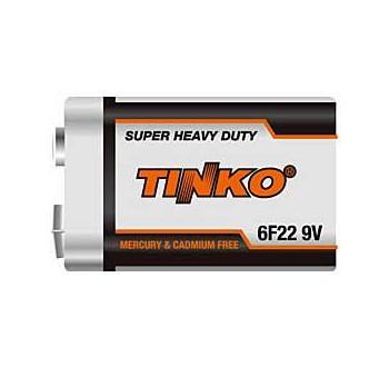 Baterie TINKO 9V 6F22, Zn-Cl - 1 ks