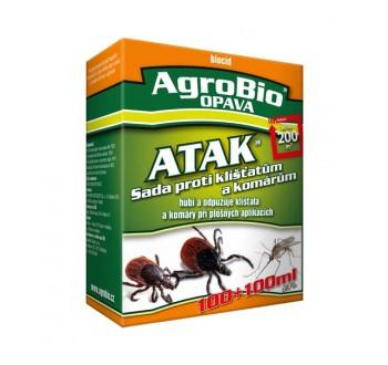 AgroBio OPAVA ATAK - Sada proti klíšťatům a komárům 100+100 ml účinně vypudí kl