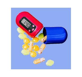 Hutermann Zásobník na léky s časovačem a alarmem PB01 - digitální lékovka