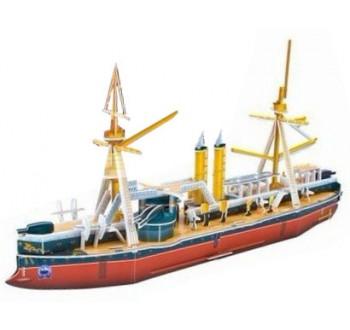 3D puzzle skládačka Obrněná loď  - fregata z 19. století Dingyuan