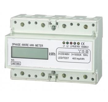 Elektroměr na DIN lištu třífázový digitální měřič spotřeby wattmetr HT-353D
