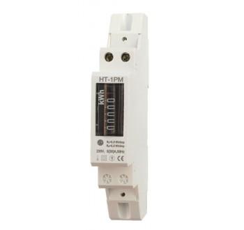 Elektroměr na DIN lištu jednofázový mechanický měřič spotřeby wattmetr Hutermann