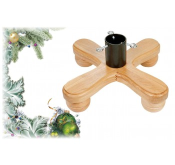 Stojan na vánoční stromek dřevěný H17 (390 x 390 x 155)