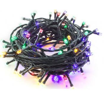 Hütermann Vánoční LED řetěz barevný 100LED, 8 m, venkovní