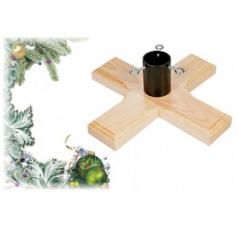 Stojan na vánoční stromek dřevěný H02 (350 x 350 x 115)