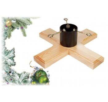 Stojan na vánoční stromek dřevěný H26 (450 x 450 x 120)