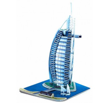 3D Puzzle skládačka Burj Al Arab - střední velikost 32cm