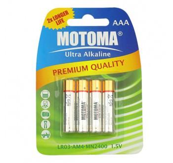 Baterie alkalická R03 AAA MOTOMA - 4ks