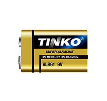 Baterie TINKO 9V 6LR22 alkalická, baleno v blistru