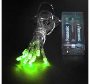 Vánoční osvětlení 10 x LED - zelená barva