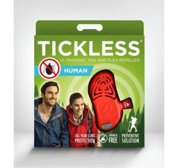 Ultrazvukový repelent Tickless HUMAN proti klíšťatům (červený)