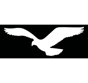 HARMONY sokol - bílá silueta dravce (samolepící fólie - 420 mm)