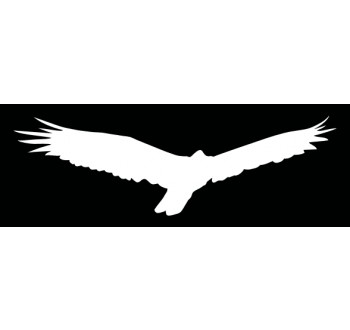 HARMONY silueta dravec bílá -  samolepící fólie  - 340 mm