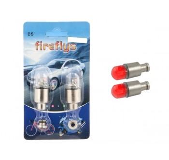 LED svítící ventilky na kolo červené HARMONY