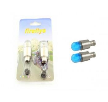 LED svítící ventilky na kolo modré HARMONY