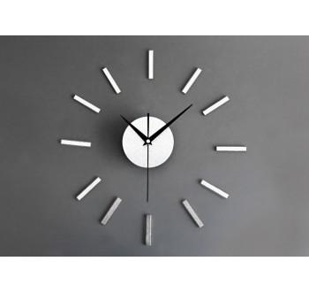 HARMONY nástěné hodiny stříbrné 3D efekt