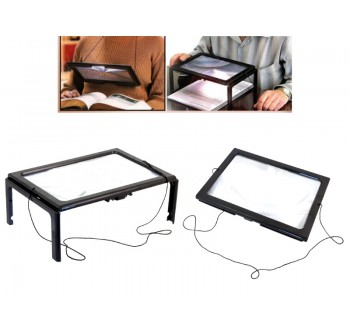 Čtecí lupa A4 - pracovní, LED osvětlení 3x zvětšení HARMONY