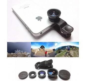 Mikroskop pro mobilní telefon 3v1
