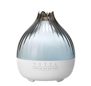 Hütermann S01 aroma difuzér šedá-bílá 350 ml - ultrazvukový, 7 barev LED