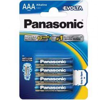Baterie AAA (R03) alkalická PANASONIC Evolta 4BP