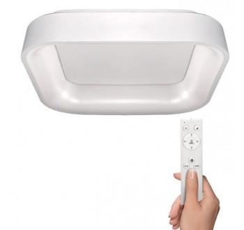 Solight LED stropní světlo čtvercové Treviso, 48W, 2880lm, stmívatelné, dálkové
