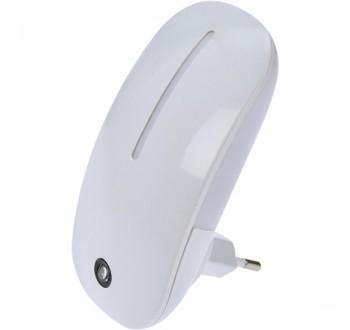 Solight noční LED světélko se světelným senzorem, 1W, 230V, bílé