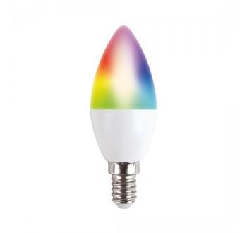 Solight LED SMART WIFI žárovka, svíčka, 5W, E14, RGB, 400lm