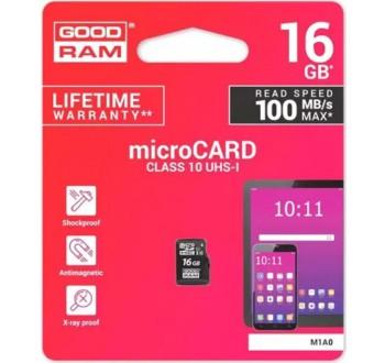 Karta paměťová GOODRAM micro SD 16 GB