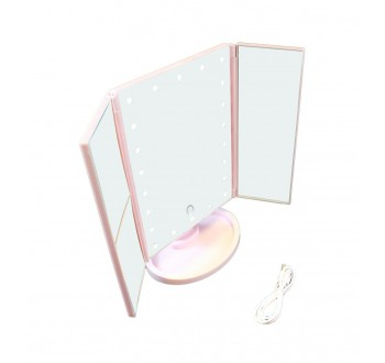 HARMONY Kosmetické zrcadlo - růžové