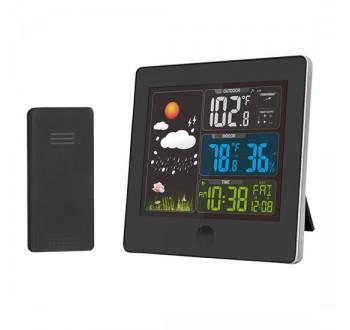 Solight meteostanice, barevný LCD, teplota, vlhkost,RCC, černá +