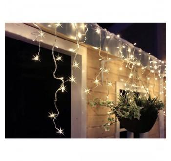 Solight LED vánoční závěs, rampouchy, 120 LED, 3m x 0,7m, přívod 6m, venkovní