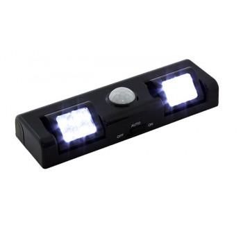 Bezdrátové noční LED světlo se snímačem pohybu -  AA, 8 LED černé HARMONY