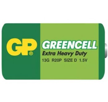Baterie D (R20) Zn-Cl GP Greencell - 1 kus