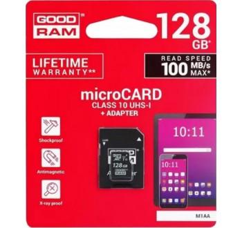 Karta paměťová GOODRAM micro SD 128 GB s adaptérem