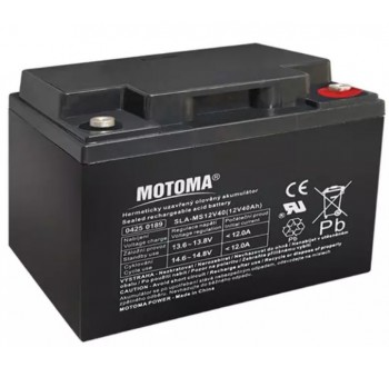 Baterie olověná 12V 40Ah MOTOMA