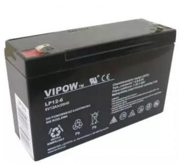 Baterie olověná 6V 12Ah VIPOW