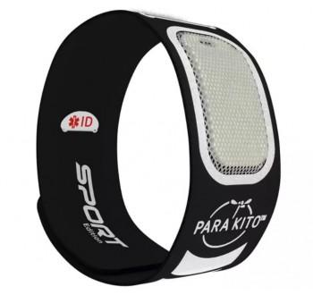PARA'KITO sportovní náramek proti komárům, černý + 2 náplně