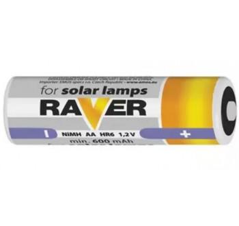 Baterie AA (R6) nabíjecí 1,2V/600mAh RAVER solar, 2 ks