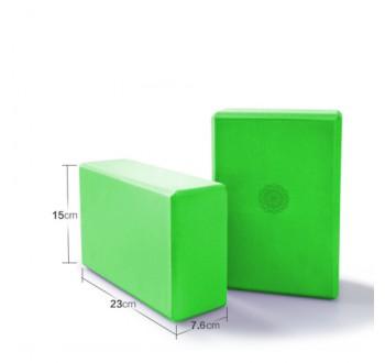 Jóga kostka blok cihlička s motivem mandaly - Zelená