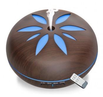 Hütermann Y02 aroma difuzér 550ml tmavé dřevo - ultrazvukový, 7 LED barev, dálkové ovládání