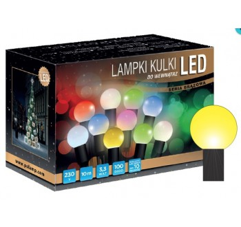 LED osvětlení vnitřní - koule, žlutá, 10 m