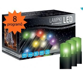 LED osvětlení univerzální - klasická, zelená 10 m, programátor