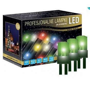 LED osvětlení venkovní - klasická, zelená, 10 m
