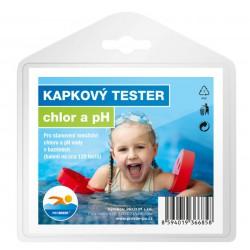 Kapkový tester - chlor a pH
